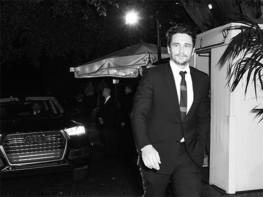 James Franco arrives in Q7