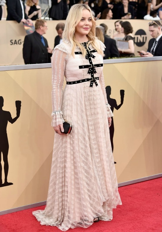 abbie cornish sag awards red carpet