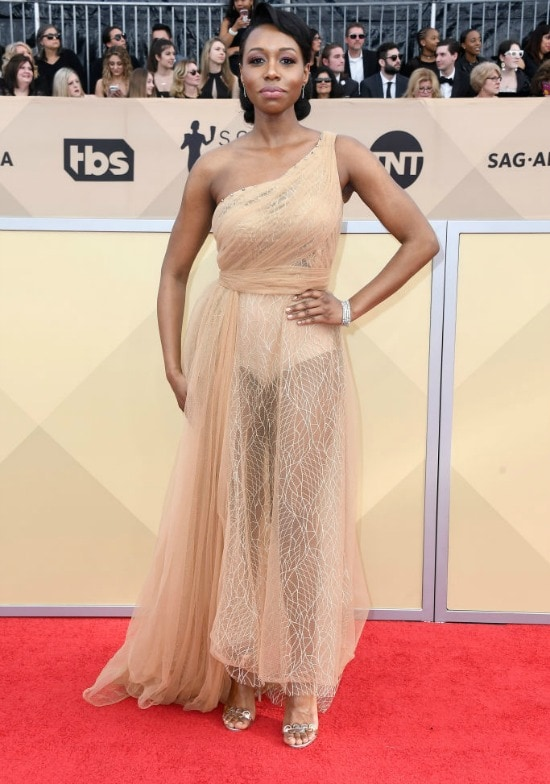 amanda warren sag awards red carpet