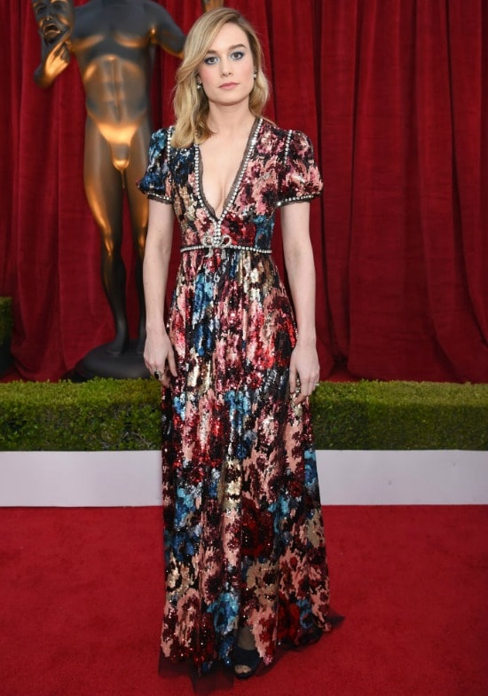 brie larson sag awards red carpet