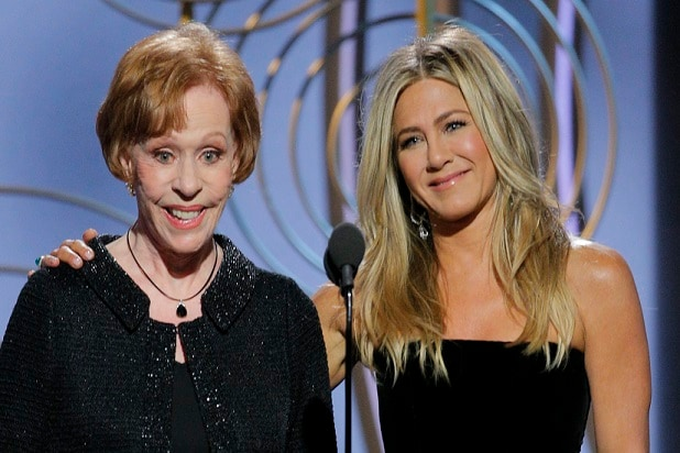 carol burnett jennifer aniston golden globes