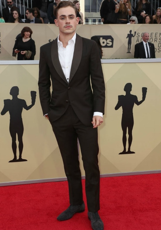 dacre montgomery sag awards red carpet