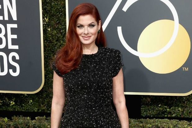 debra messing golden globes