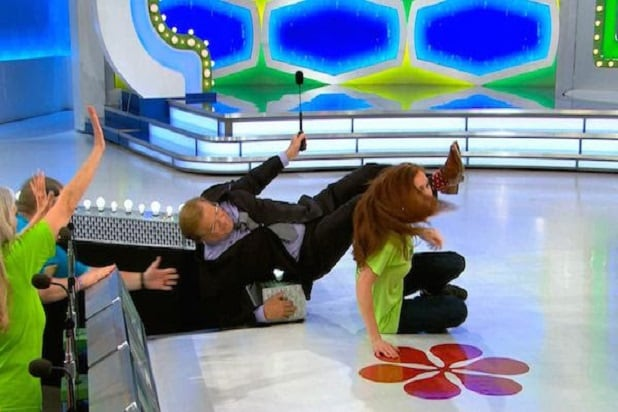 Drew Carey knocked over by overzealous 'Price is Right' fan