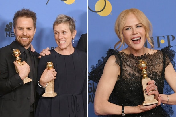 golden globes by numbers three billboards big little lies
