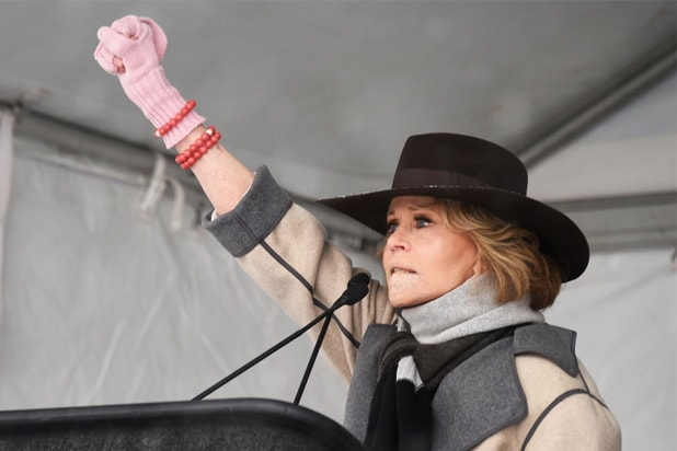 jane fonda sundance women rally
