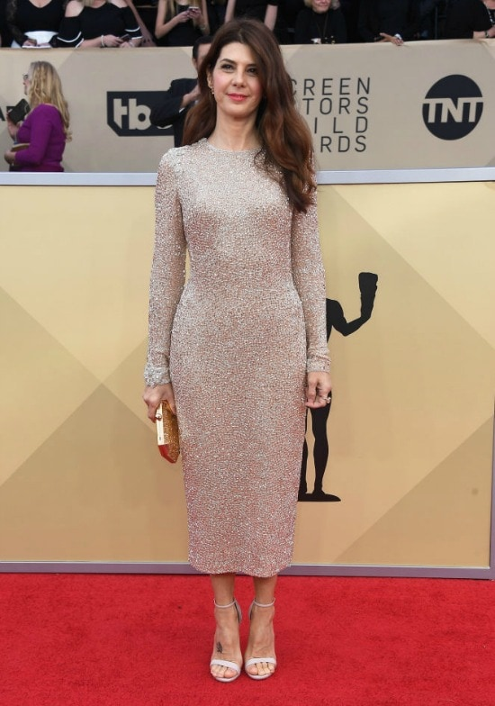 marisa tomei sag awards red carpet