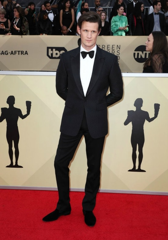 matt smith sag awards red carpet