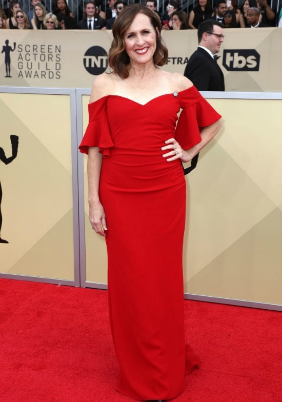 molly shannon sag awards red carpet