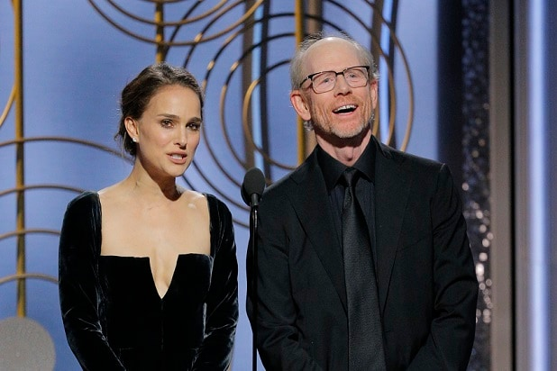 natalie portman ron howard golden globes