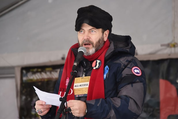 nick offerman women respect rally sundance