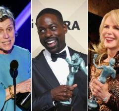 sag awards winners list mcdormand brown kidman