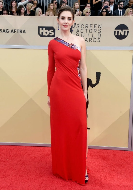 sag awards red carpet alison brie