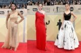 sag awards red carpet split