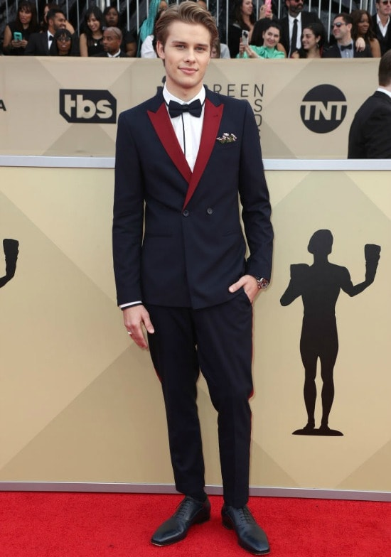sag awards red carpet Logan Shroyer