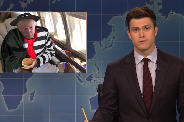 snl saturday night live weekend update colin jost donald trump hamburgler
