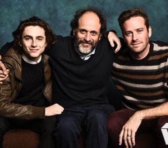 Timothée Chalamet, Luca Guadagnino and Armie Hammer, Call me by your Name