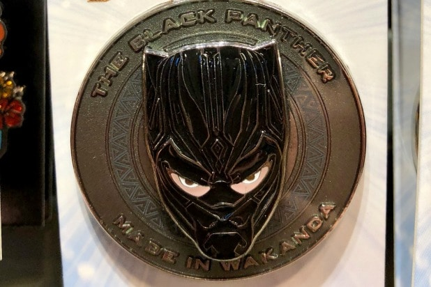 white black panther pin disney
