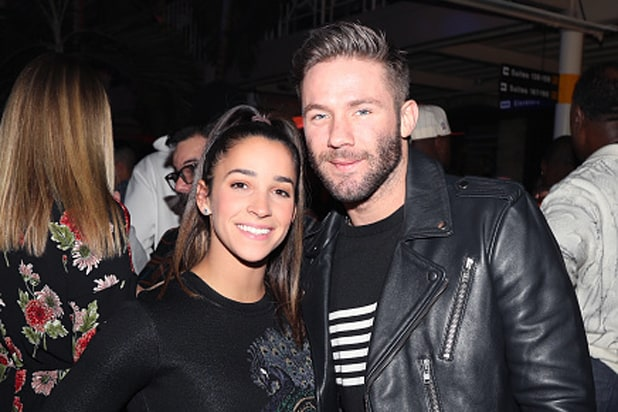 Aly Raisman Julian Edelman Super Bowl