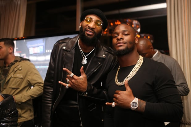 Andre Drummond & LeVeon Bell_Let It Fly NBA All Star Event copy