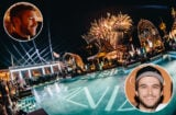 Calvin Harris and Zedd provided a heavyweight opening day for the new Omnia Dayclub at Vidanta Los Cabos. (Conor McDonnell (Upper left inset); Joe Janet (Zedd Inset))