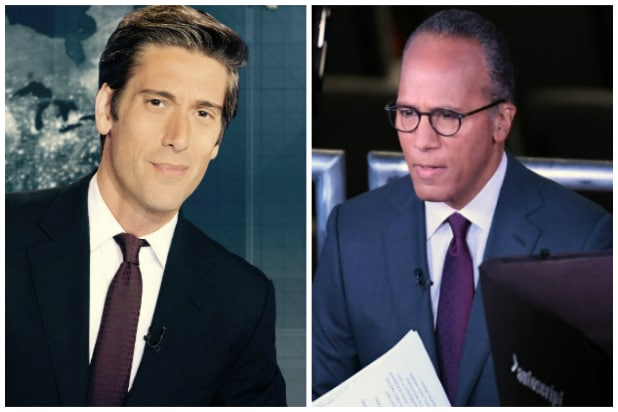David Muir and Lester Holt