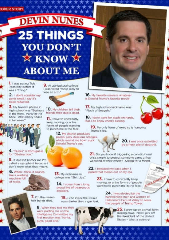Devin Nunes Real Time 25 Things