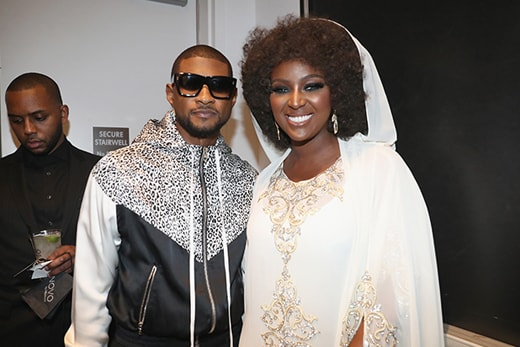 Usher and Amara La Negra