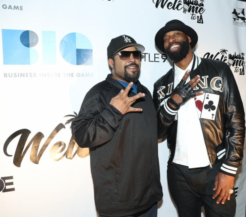 Ice Cube Baron Davis NBA All-Star