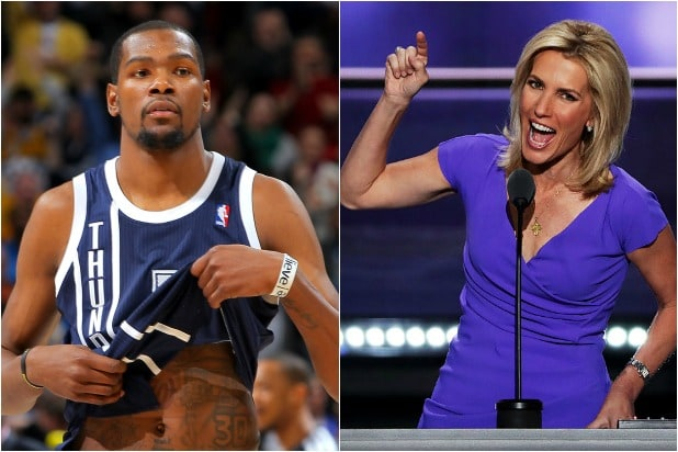 Kevin Durant Says Laura Ingraham s  Shut Up and Dribble  Diss  Was Racist  27d964f53