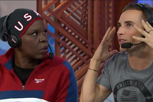 Leslie Jones Adam Rippon