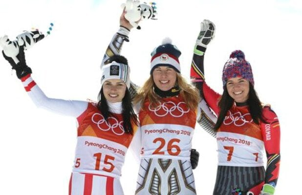Olympics 2018 Super-G Anna Veith Ester Ledecka Tina Weirather