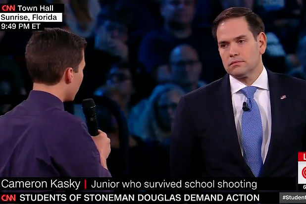 Marco Rubio confronted by student on CNN