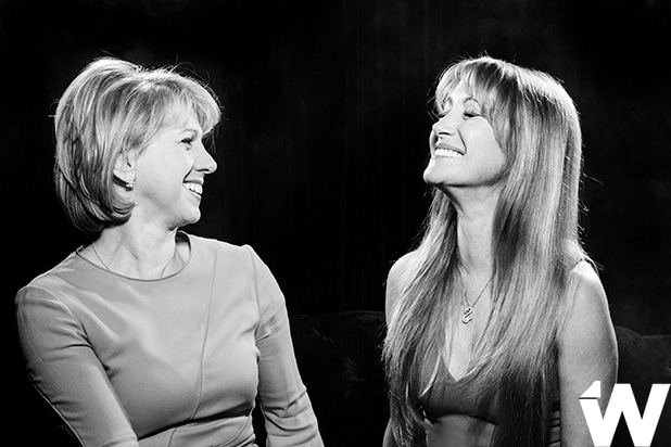 Sharon Waxman and Jane Seymour