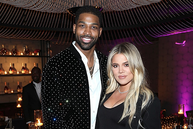 Tristan Thompson and Khloe Kardashian at Klutch Sports Group More Than A Game Dinner