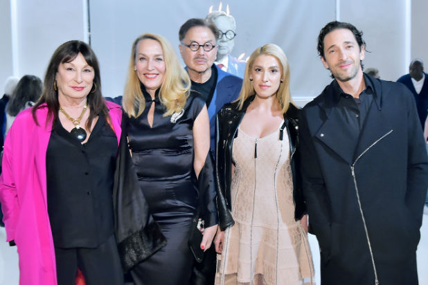 anjelica huston jerry hall mr chow adrien brody