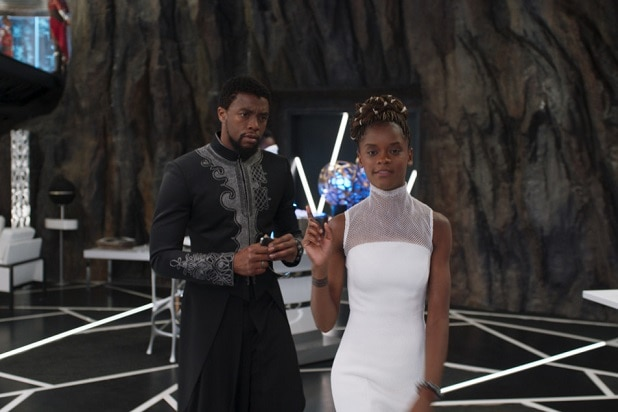 black panther back to the future II letitia wright shuri chadwick boseman t'challa