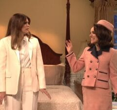 snl saturday night live natalie portman jackie kennedy cecily strong melania trump