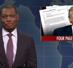 snl saturday night live weekend update michael che nunes memo trump