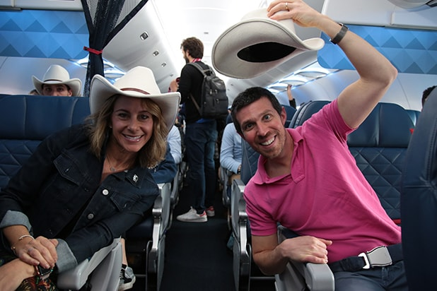 Westworld HBO Hats on Plane