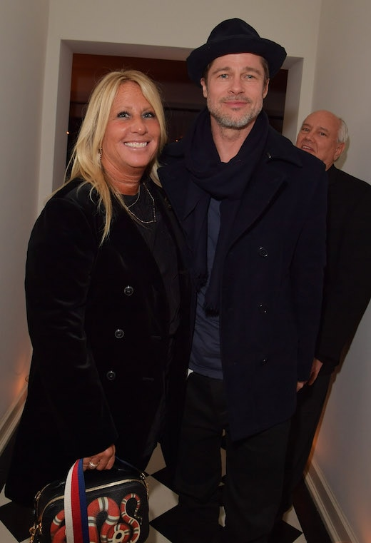 Cynthia Pett-Dante and Brad Pitt attend the 2018 Gersh Oscar party at Chateau Marmont on March 1, 2018 in Los Angeles, California.