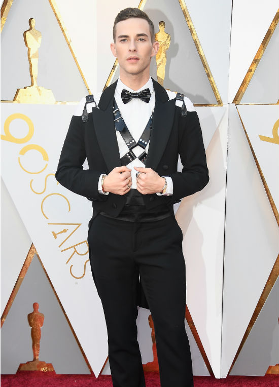 Adam Rippon Oscar Fashion Moschino