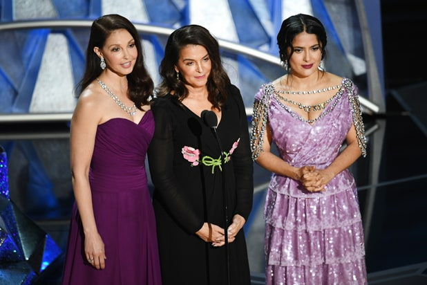 Ashley Judd, Annabella Sciorra and Salma Hayek Oscars