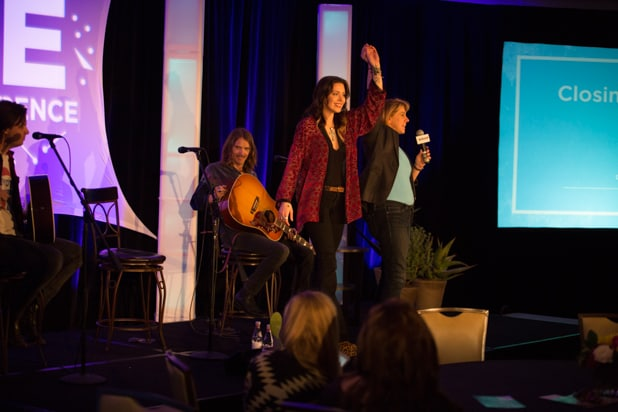 Sharon Waxman, singer Dorothy, BE Conference day 2 2018
