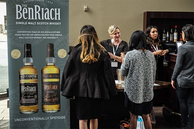 BenRiach bar BE Conference 2018 attendees