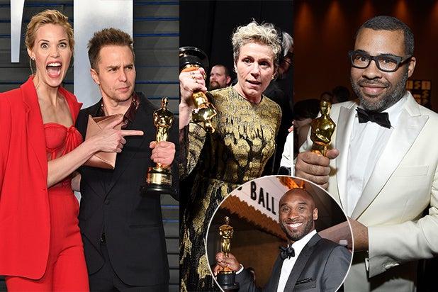 COVER - Oscar After Parties 2018 - Rockwell, McDormand, Jordan Peele, Kobe
