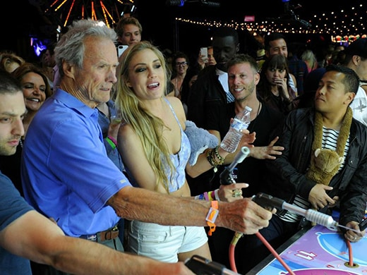 Clint Eastwood Neon Carnival