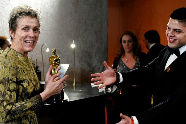 Frances McDormand Oscars Governors Ball 2018
