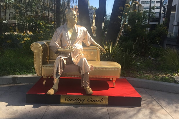 Harvey Weinstein statue