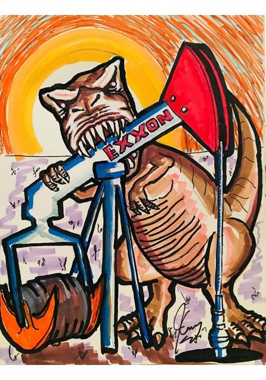Jim Carrey Exxon Artwork